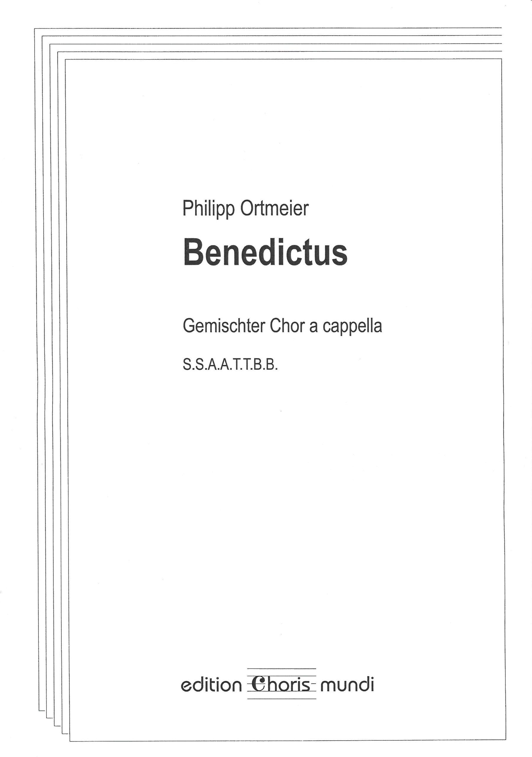 Noten-Cover »Benedictus«