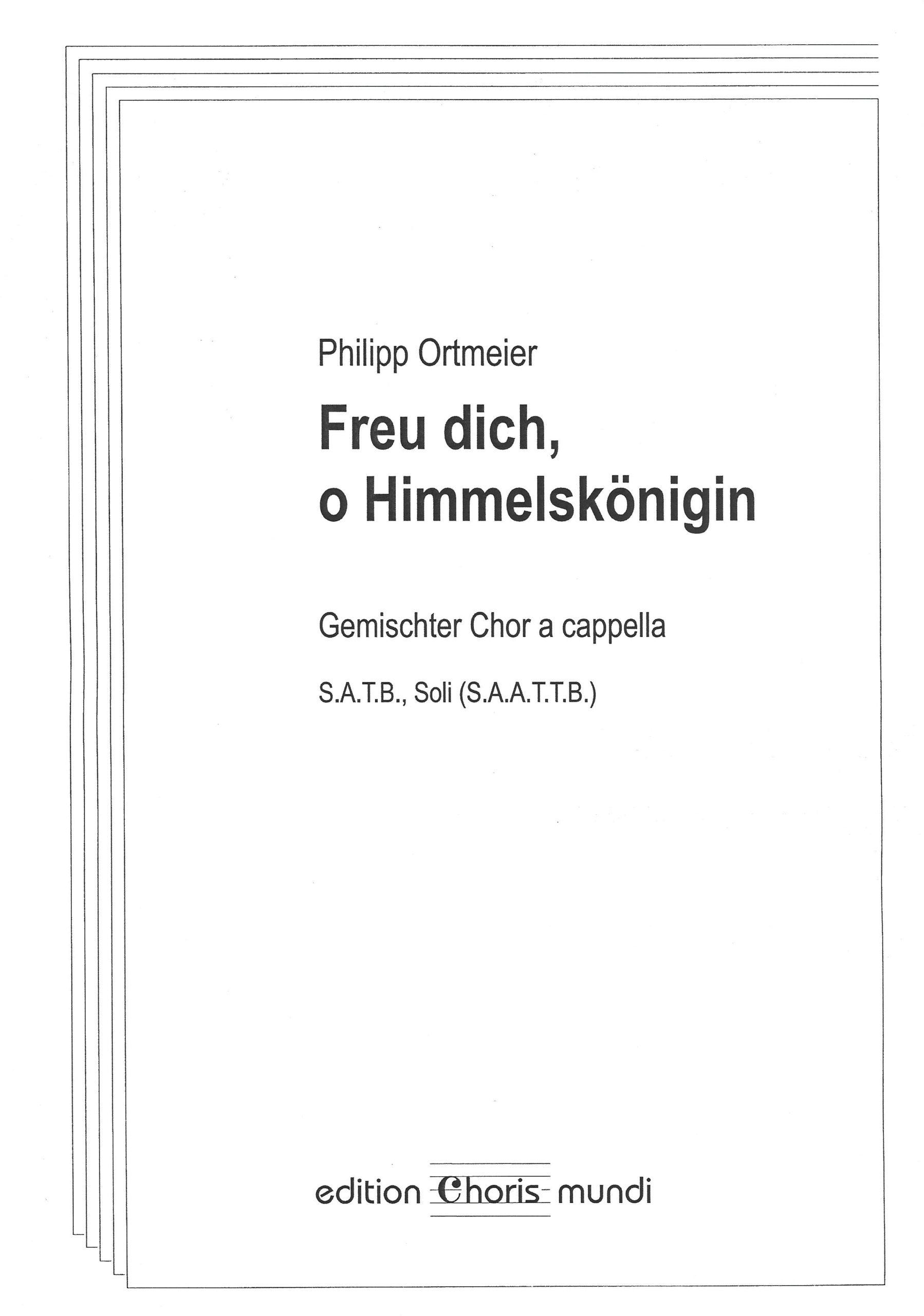 Noten-Cover »Freu dich, o Himmelskönigin«